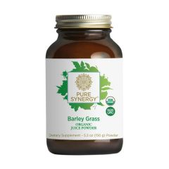 Pure Synergy - Barley Grass - Organic Juice Powder - Bottle Front