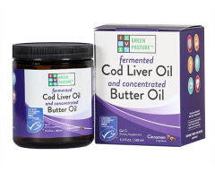 Blue Ice - Fermented Cod Liver Oil Concentrated Butter Oil - Cinnamon Tingle Gel - Bottle Front