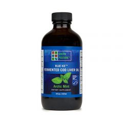 Blue Ice - Fermented Cod Liver Oil - Artic Mint - 8 fl oz - Bottle Front