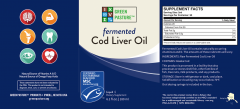 Green Pasture - Fermented Cod Liver Oil - Label Front