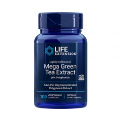 Life Extension - Lightly Caffeinated Mega Green Tea Extract - 98% Polyphenols - Bottle Front