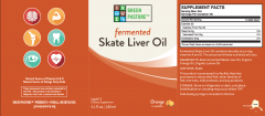 Green Pasture - Fermented Skate Liver Oil - Orange - Product Label