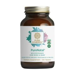 Pure Synergy - PureNatal - Multivitamin for Mom & Baby - 120 Tablets - Bottle Front