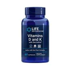 Life Extension - Vitamin D and K with Sea-Iodine - Bottle Front