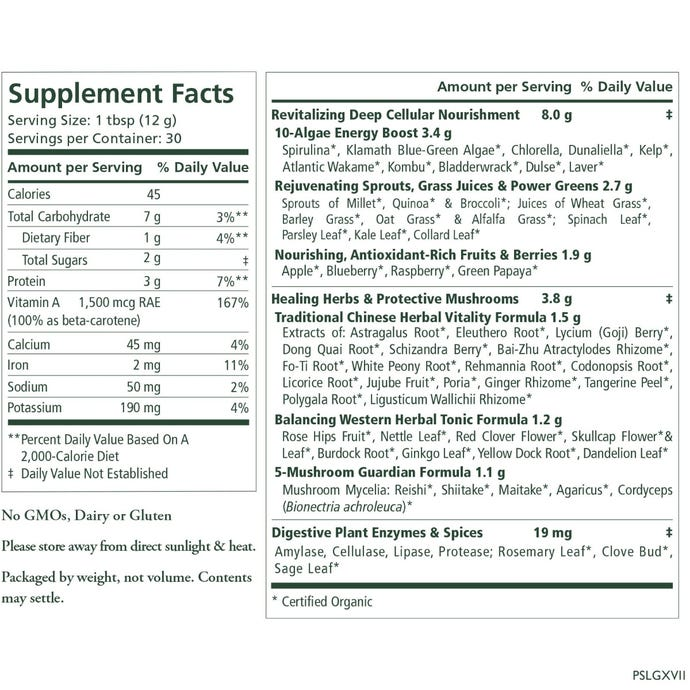 Pure Synergy Powder Supplement Information